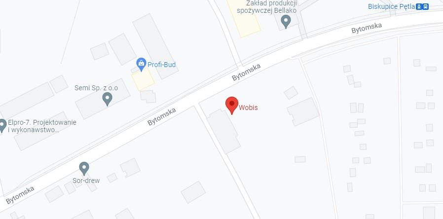 mapa dojazdu do WOBIS