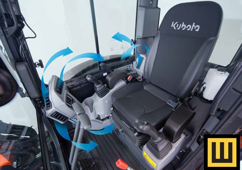 Minikoparka KUBOTA KX042-4 kabina